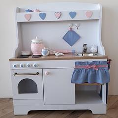 """Детская деревянная кухня """"Синяя"""""""
