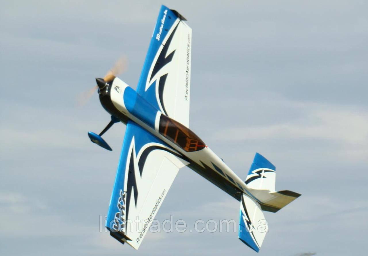 Самолёт радиоуправляемый Precision Aerobatics Katana MX 1448мм KIT (синий)
