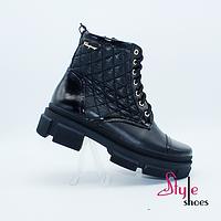 Ботинки оригинальные женские демисезонные черного цвета