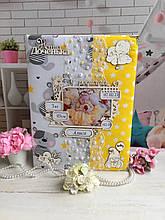 Детский альбом фотоальбом для ребёнкаручной работы санкетойноворожденного с мамиными заметками и фото.