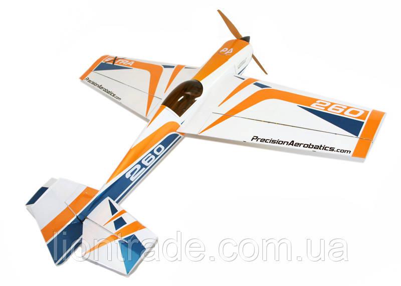 Самолёт радиоуправляемый Precision Aerobatics Extra 260 1219мм KIT (желтый)