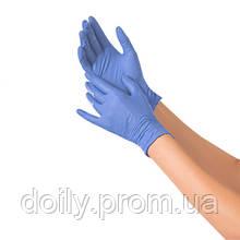 Перчатки нитриловые смотровые нестерильные неопудренныее NITRYLEX BASIC (200 шт) голубой