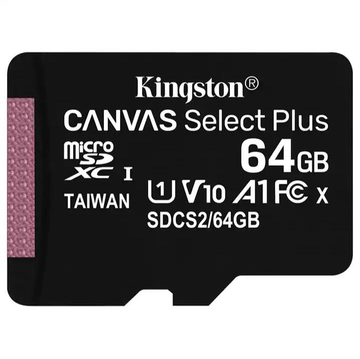 Карта памяти KINGSTON microSDXC 64GB UHS-I U1 Canvas Select Plus (SDCS/64GB)