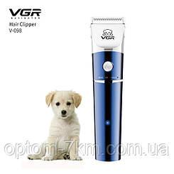 Професійна акумуляторна тиха машинка триммер для стрижки тварин VGR V-098 am