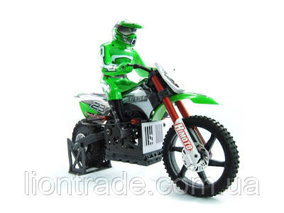 Радіокерована модель Мотоцикл 1:4 Himoto Burstout MX400 Brushed (зелений)