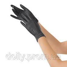 Перчатки нитриловые смотровые нестерильные неопудренные NITRYLEX BLACK (100 шт) Размер XL Цвет: черный