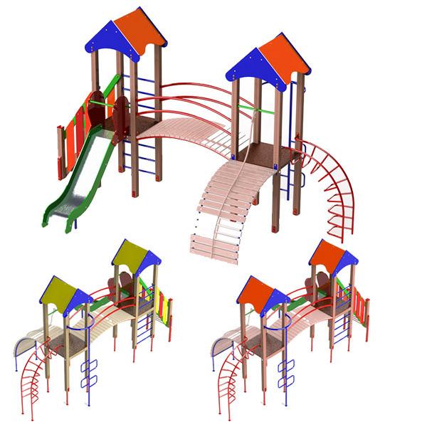 """Детский игровой комплекс """"Две башни"""". Игровая Детская Площадка во двор, школу, садик или парк."""