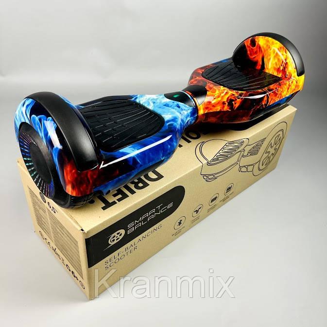 Гироборд Гироскутер Smart Balance 6,5 дюймов цвет Огонь и Лед