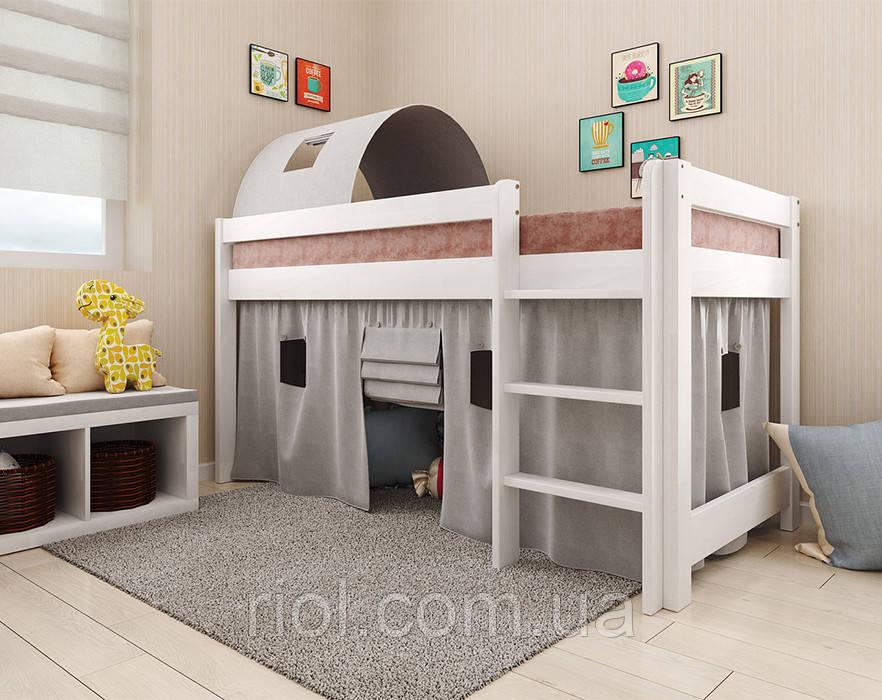 Дитяче дерев'яне ліжко - горище Адель
