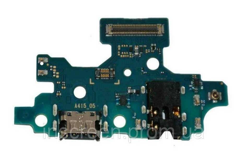 Плата зарядки Samsung A415 Galaxy A41 2020 с разьемом зарядки, разьемом наушников, микрофоном Оригинал Китай, фото 2