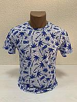Однотоные футболки с принтом ПАЛЬМА пр-ва Турция (р-р S) БЕСПЛАТНАЯ ДОСТАВКА при заказе 3 шт !!!