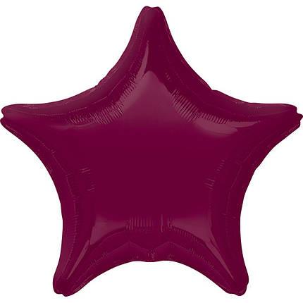 """Фол куля Anagram 18""""/45см ЗІРКА металік Berry ягідний (Анаграм), фото 2"""