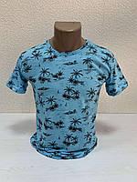 Однотоные футболки с принтом ПАЛЬМА пр-ва Турция (р-р S.M.L) БЕСПЛАТНАЯ ДОСТАВКА при заказе 3 шт !!!