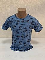 Однотоные футболки с принтом ПАЛЬМА пр-ва Турция (р-р S.M.L.XL.XXL) БЕСПЛАТНАЯ ДОСТАВКА при заказе 3 шт !!!