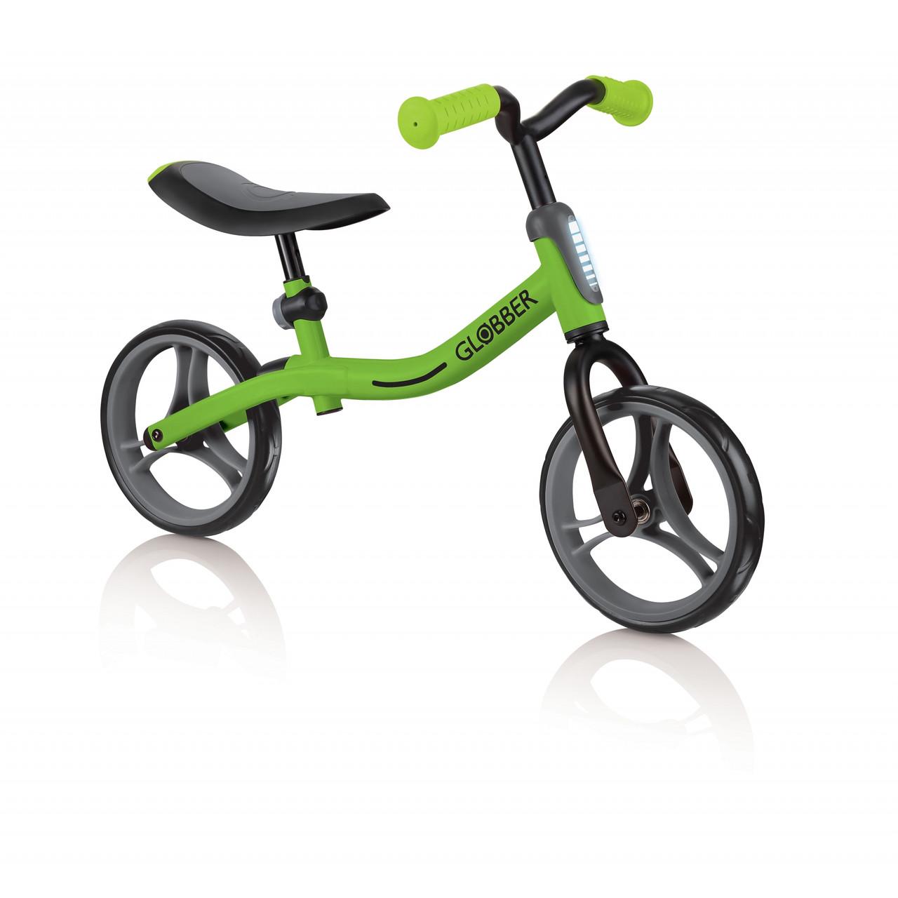 Беговел Globber GO BIKE зеленый, от 2-х лет до 20 кг. (610-136)