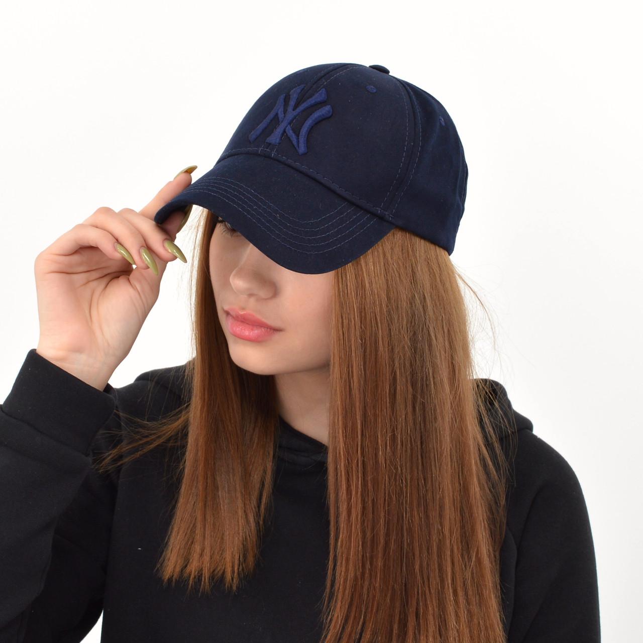 Бейсболка Котон Преміум NY (репліка) синій