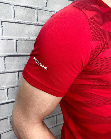 Футболка мужская Under Armour Красный Спортивная С надписью Для спорта и повседневной носки Для мужчин M XXL, фото 2