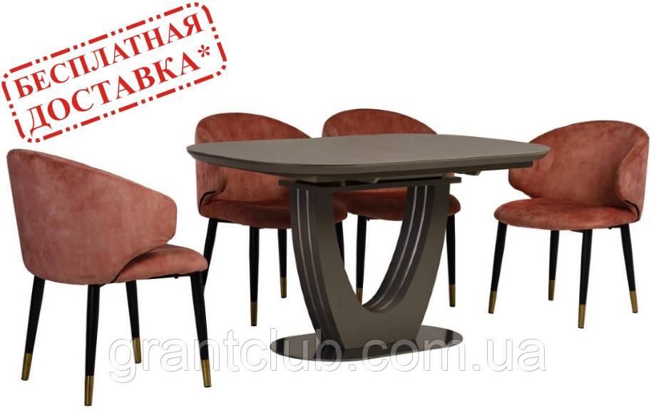 Стол TML-765 серый 140/180х85 (бесплатная доставка)