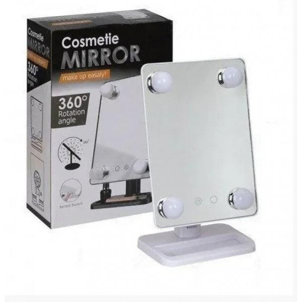 Зеркало с LED подсветкой для макияжа Cosmetie MIRROR Mode Arivans 27 x 16.5 см