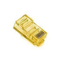 Конектор Ritar RJ-45 8P8C UTP Cat-5 (100 шт / уп.) Q100 Yellow в тубі