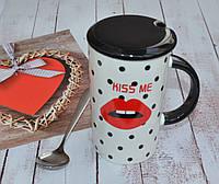 Чашка Губки с крышечкой и ложкой