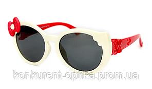 Солнцезащитные яркие очки для детей с бантом полароид