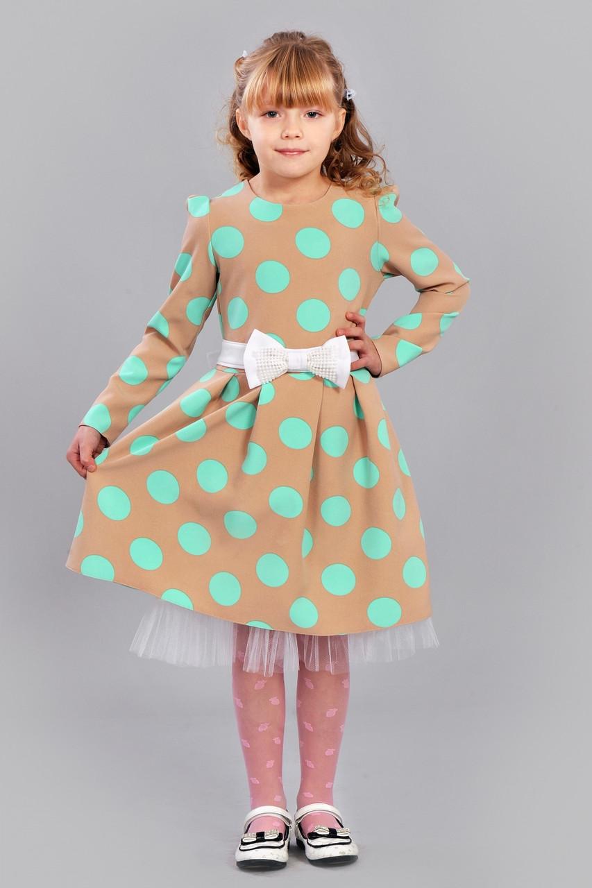 02dd0ef3f461 Платье на девочку в горошек - оптово - розничный интернет - магазин