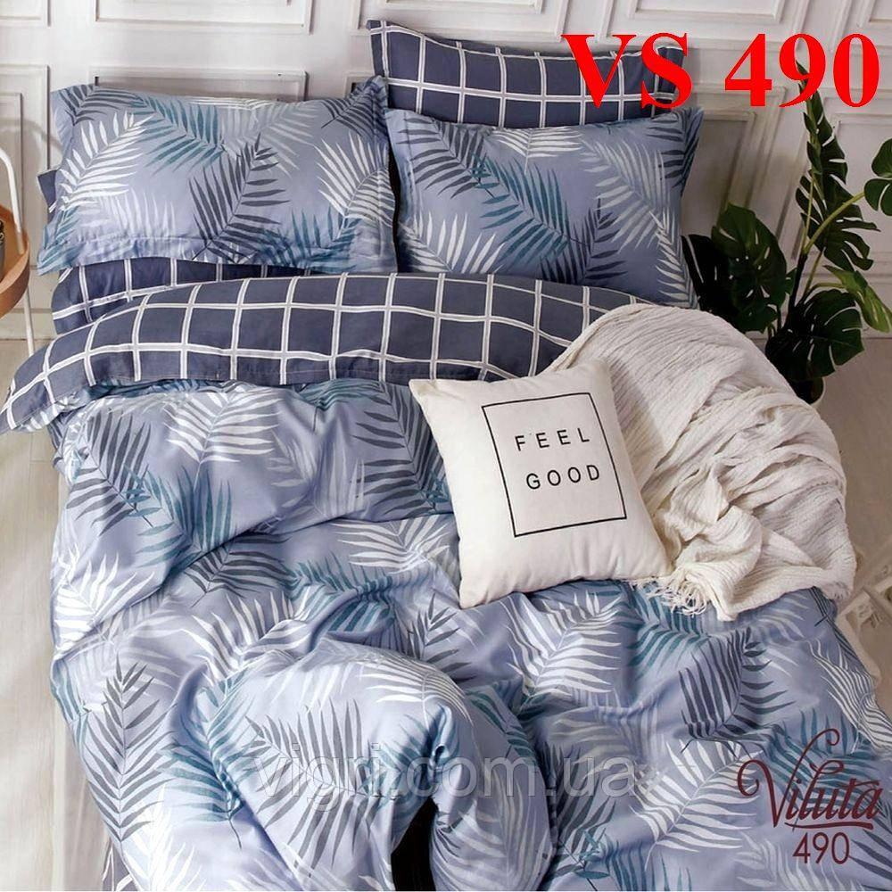 Постільна білизна євро комплект, сатин, Вилюта «Viluta» VS 490
