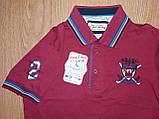 Чоловіча футболка поло бордо однотонна р. 44 Туреччина, фото 2
