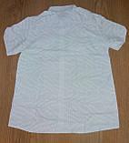 Чоловіча сорочка з коротким рукавом, біла р. XXL (52) Туреччина, фото 2