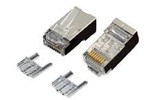 Конектор OK-net utp RJ-45 Кат.6 FTP, 50U зі вставкою упаковка 100 шт. ціна вказана за шт.