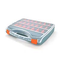 Пластмасовий переносний ящик для інструментів 80 х 350 х 460, 24 відділення