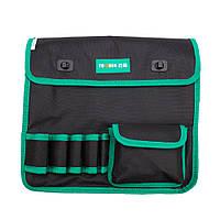 Сумка для монтажних інструментів TUOSEN, 5 кишеньок, чорно-зелена, на пояс