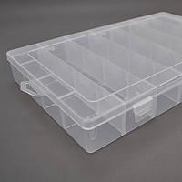 Пластмасовий  ящик для радіодеталей, 195 х 35 х 130 мм, 24 відділень