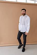 Мужская рубашка льнаная вышиванка, фото 2