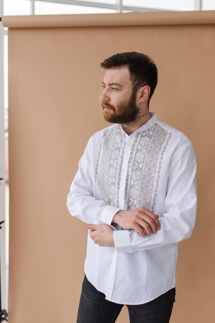 Мужская рубашка льнаная вышиванка