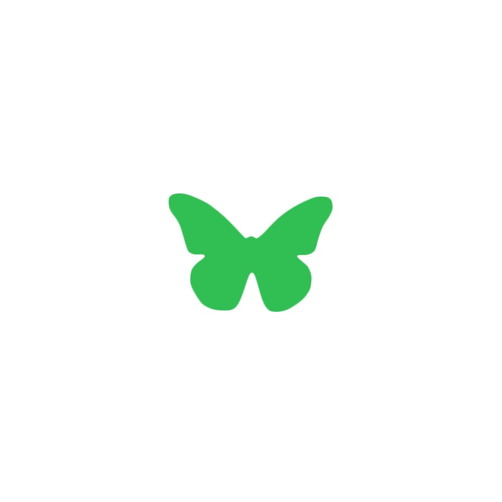 Декор: Метелик маленька зелена