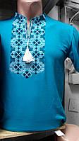 Стильная мужская футболка вышиванка