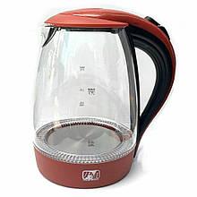 Электрочайник Promotec PM 810 стеклянный, 1.7литра 2200 Вт