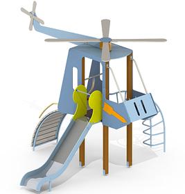 Детская горка Вертолет Mи8