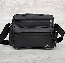 Вместительная мужская сумка черная (2440)