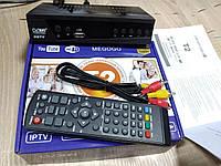 Ресивер цифрового телевидения MEGOGO 168 Т2 приемник тюнер приставка с поддержкой DVB-T2 DVB-T и DVB-C |S1