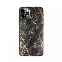Защитная пленка на заднюю панель смартфона Черно-Золотой Мрамор, фото 1