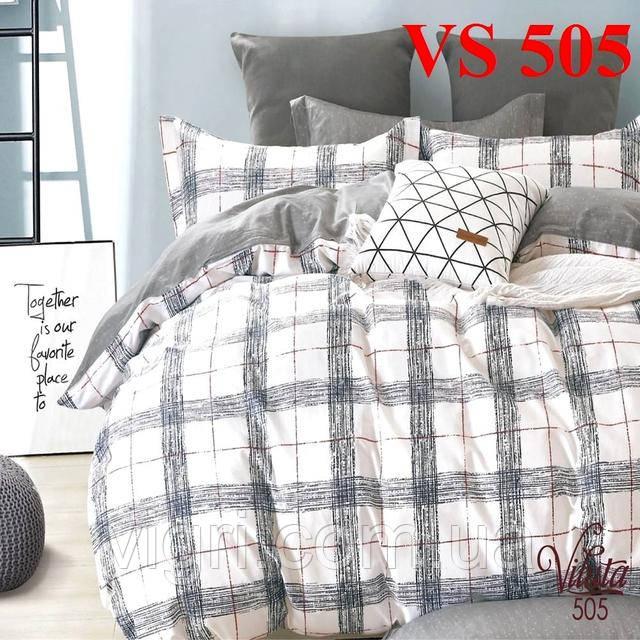 Постільна білизна євро комплект, сатин, Вилюта «Viluta» VS 505