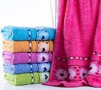 Банные полотенца Сердца
