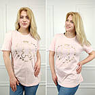 Женская футболка, батал 50-58рр, черный, золото, мишка, фото 4