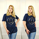 Женская футболка, батал 50-58рр, черный, золото, мишка, фото 5