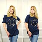 Жіноча футболка, батал 50-58рр, чорний, золото, ведмедик, фото 5