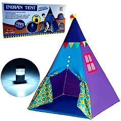 Детская складная палатка-вигвам со светильником Домик индейца 1260