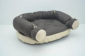 Диван для собак Комфорт лето №2 700х880х280 коричневый, фото 2